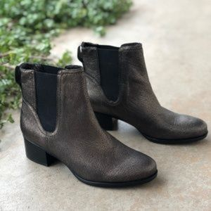 Naturalizer Brown Metallic Dallas Ankle Boots